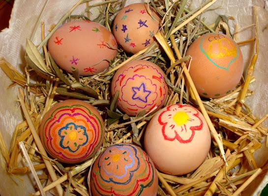 Uova benedette del Sabato Santo di clagia