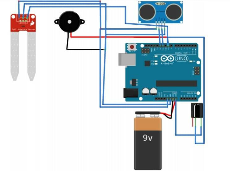 circuit Diagram. Smart blind stick