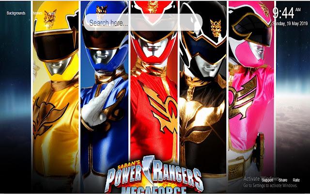 Power Rangers HD Wallpaper New Tab