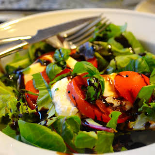 Caprese Salad with Baby Greens.