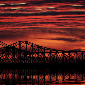 Fire In The Sky by Kara Brothers - Landscapes Waterscapes ( pwcredscapes )