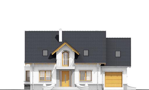 Dom Dla Ciebie 1 z garażem 1-st. A - Elewacja przednia