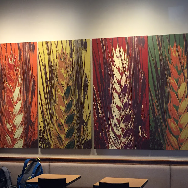 Wheat as art. This speaks for itself in my opinion. Got a coffee only.