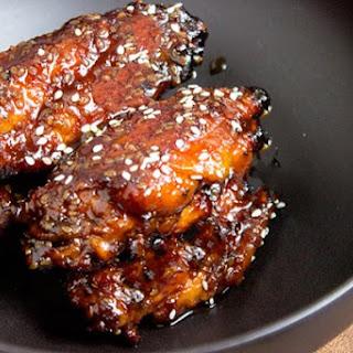 Sticky Asian Chicken Wings.