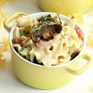 Gluten free - Mini Mushroom Pasta Bake with Crispy Pancetta & Fresh Herbs