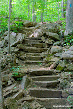 Photo: Stone staircase at Niquette Bay State Park by Bryce Metzger