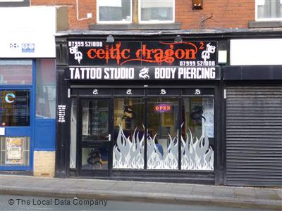 Celtic Dragon On Town Street Tattooing Piercing In