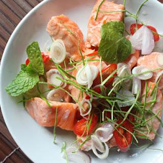 Thai Herbal Salmon Salad (Phla Pla Salmon).