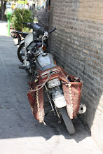 Photo: Day 136 -  Motorbike With Panniers