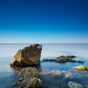 Blue Sea by Simone Angelucci - Landscapes Waterscapes