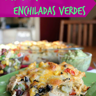 Easy Stacked Enchiladas Verdes