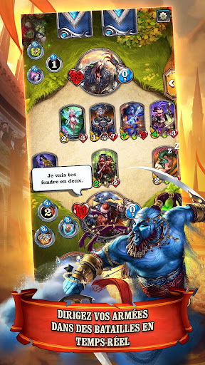 Télécharger gratuit Mighty Heroes: Multiplayer PvP Card Battles APK MOD 1