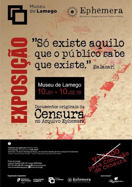 Exposição sobre censura chega ao Museu de Lamego