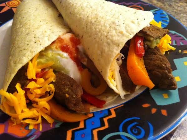 Spicy Leftover Steak Fajitas Recipe