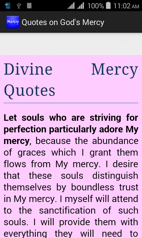 Quotes on God's Mercy- screenshot