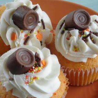 Orange Rolo Cupcakes