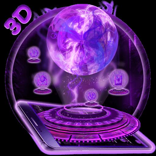 3D  Purple Smock Ball Theme (app)