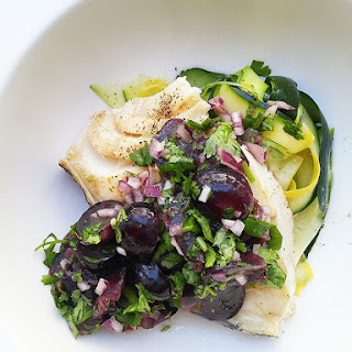 Grilled Sea Bass with Grape Salsa