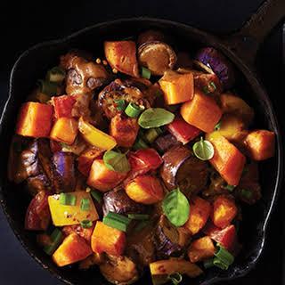 Eggplant & Sweet Potato Stir-Fry.