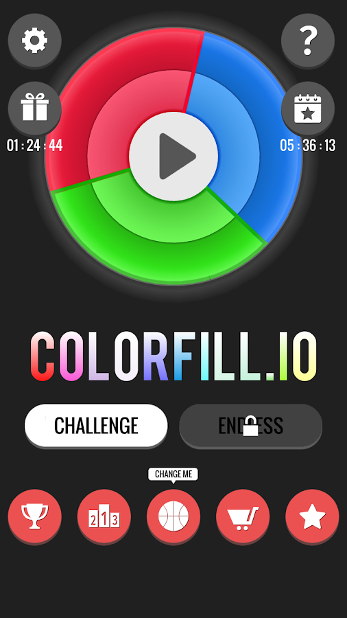 Colorfill.io - Fill the Color Wheel- screenshot