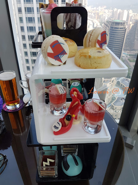 W Taipei紫艷酒吧xChiara Ferragni聯名拋媚艷下午茶/Wild Winks狂野/眨眼/信義區101/飯店下午茶