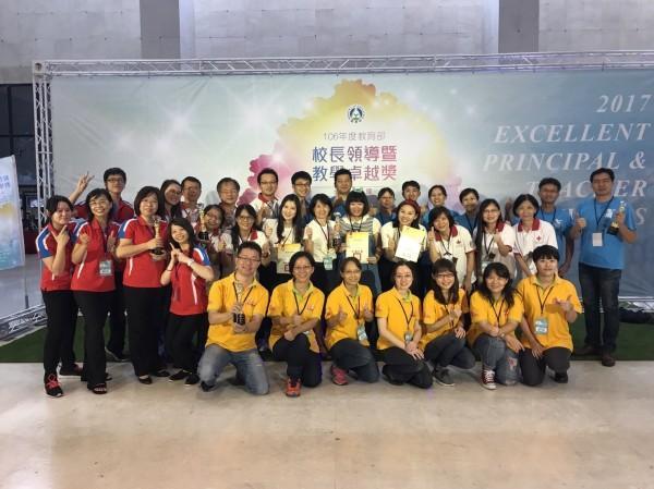 全國教學卓越獎今天頒獎,台南市抱回4金1銀。(台南市教育局提供)