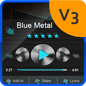 Blue Metal PlayerPro theme