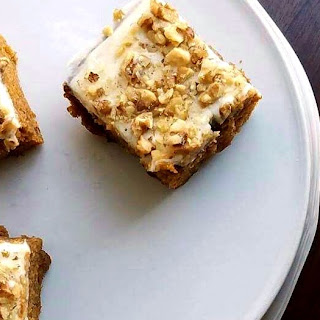 Pumpkin Cake with Cream Cheese Frosting.