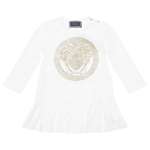Primary image of Young Versace Glitter Logo Dress