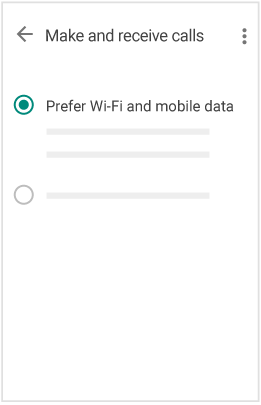"On mobile, select ""Prefer Wi-Fi and mobile data"""