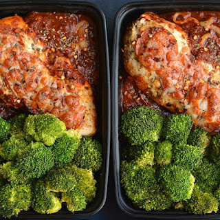 Meal Prep Pizza Chicken {GF, Low Calorie}.