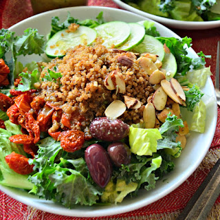 Mediterranean Quinoa Salad with Sliced Almonds
