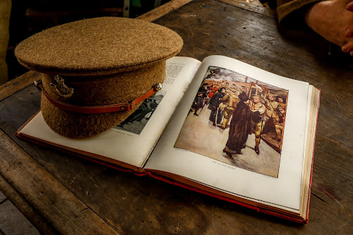 Open book by Mandy Hedley - Artistic Objects Other Objects ( tanfield, ww1, railway, one, book, museum, war, world, hat,  )