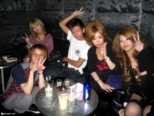 Japanese people at B-1 Dynamite in Roppongi, Tokyo, Japan