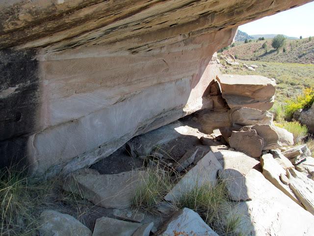 Rock shelter beneath an overhang