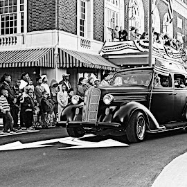Veterans Day Parade by Kevin Hill - City,  Street & Park  Street Scenes ( parade, automobile, cityscape, people, antique, street photography,  )