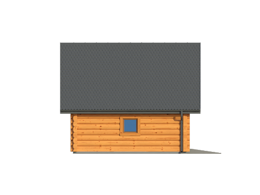 Garaż gd2w - Elewacja lewa