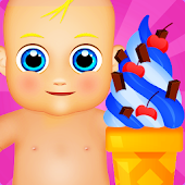 Baby Ice Cream Machine Maker Game