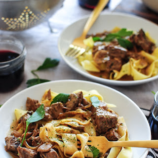 Beef Stroganoff With Red Wine And Sour Cream Recipes