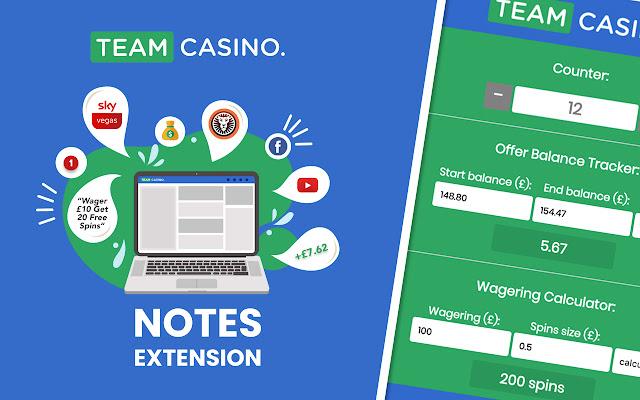Team Casino Notes