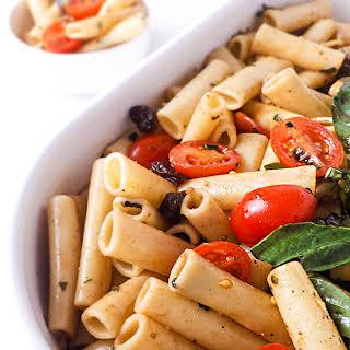 Easy Caprese Pasta Salad.