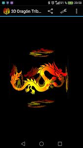 3D Tribal Dragon Tattoo LWP screenshot 1