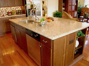 Photo: The large kitchen island in our LEIGHTON model home