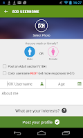 Screenshot of KFF, Username Finder for KIK