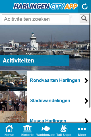 Harlingen City App: screenshot
