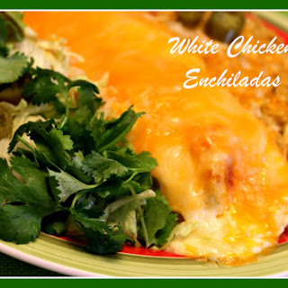 Creamy White Chicken Enchiladas!