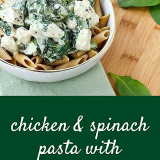 Chicken and Spinach Pasta with Lemon Cream Sauce