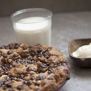 Triple Chocolate Cookie Dough in a skillet/cast iron pan.