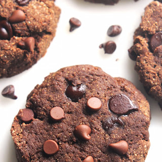 Coconut Flour Double Chocolate Chip Cookies.