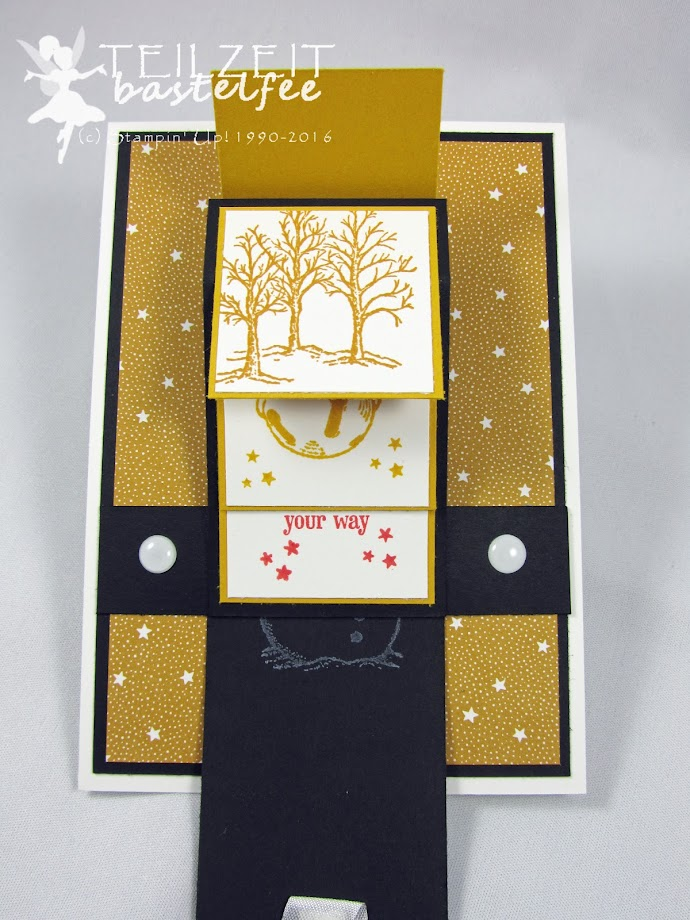 Stampin' Up! – In{k}spire_me 275, Color Challenge, Christmas, Weihnachten, Christmas Magic, Designerpapier Es weihnachtet sehr, DSP Presents and Pinecones, Waterfall Card, Wasserfallkarte, Akzente Brilliantweiß, White Perfect Accents